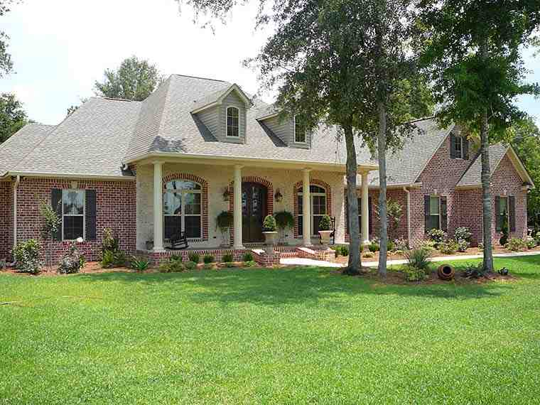 European, French Country House Plan 51952 with 4 Beds, 4 Baths, 2 Car Garage Picture 1