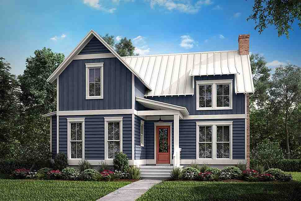 Cabin, Country, Farmhouse, Southern House Plan 51976 with 1 Beds, 1 Baths Elevation