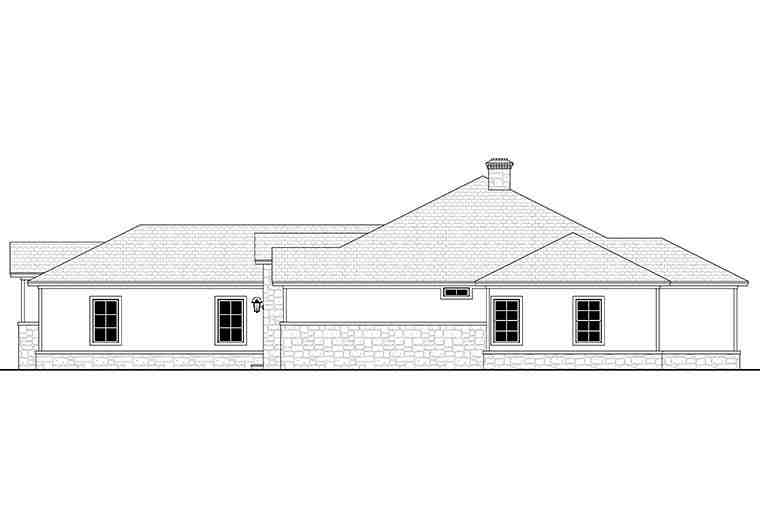Country, Ranch, Traditional House Plan 51983 with 4 Beds, 4 Baths, 3 Car Garage Picture 1