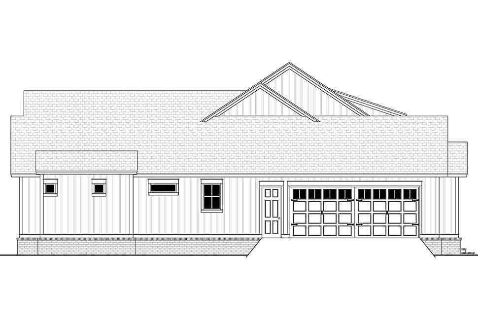 Country, Craftsman, Farmhouse House Plan 51996 with 4 Beds, 4 Baths, 2 Car Garage Picture 2