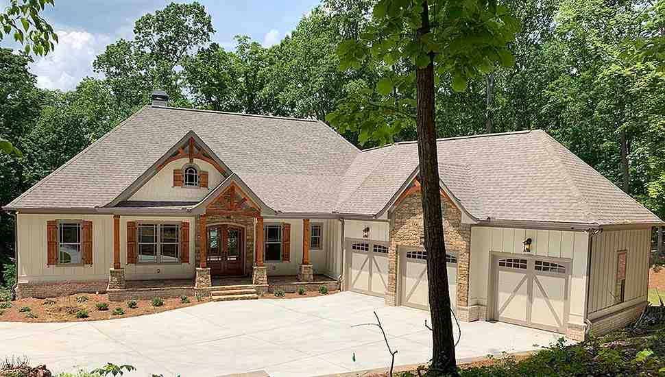 Country, Craftsman, French Country House Plan 52005 with 4 Beds, 4 Baths, 3 Car Garage Elevation