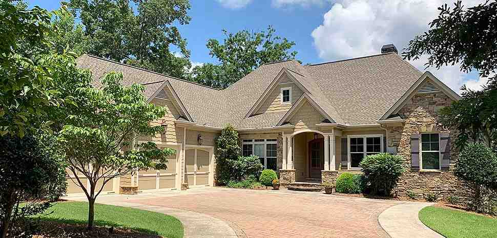 Craftsman, Traditional House Plan 52008 with 4 Beds, 5 Baths, 3 Car Garage Elevation