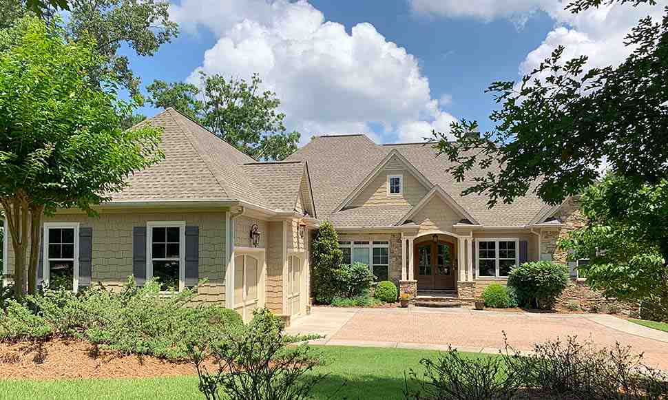 Craftsman, Traditional House Plan 52008 with 4 Beds, 5 Baths, 3 Car Garage Picture 1