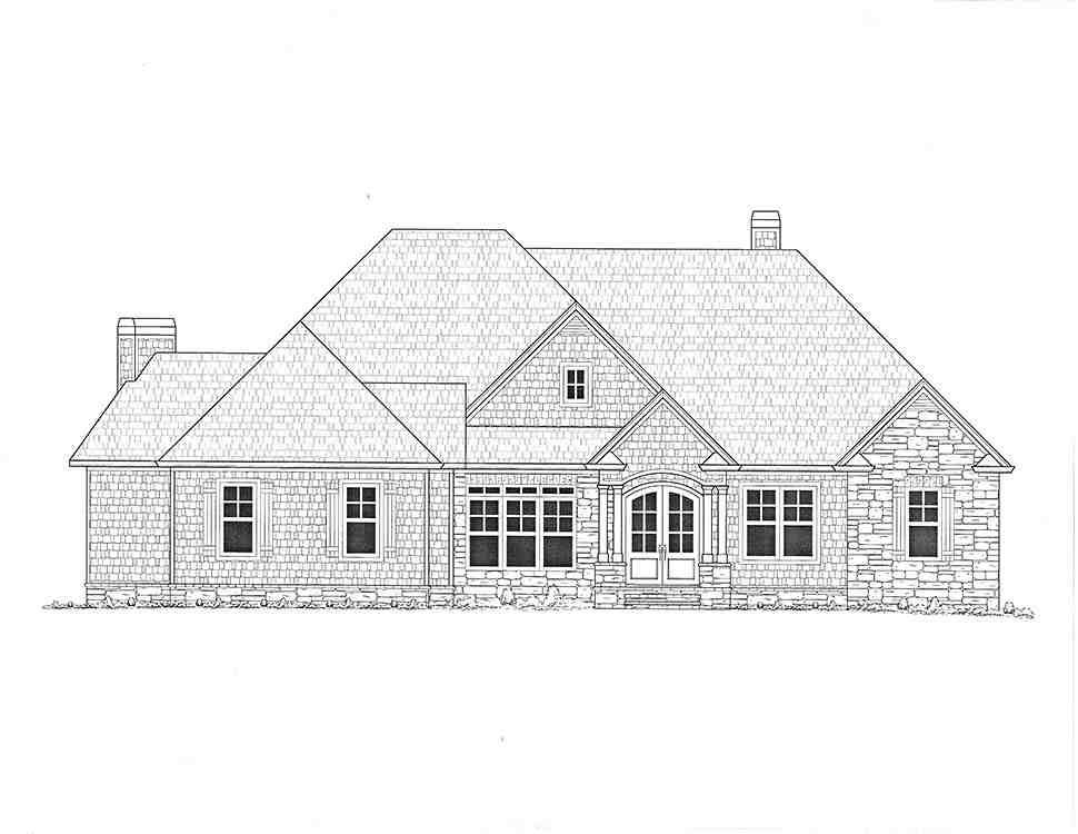Craftsman, Traditional House Plan 52008 with 4 Beds, 5 Baths, 3 Car Garage Picture 2
