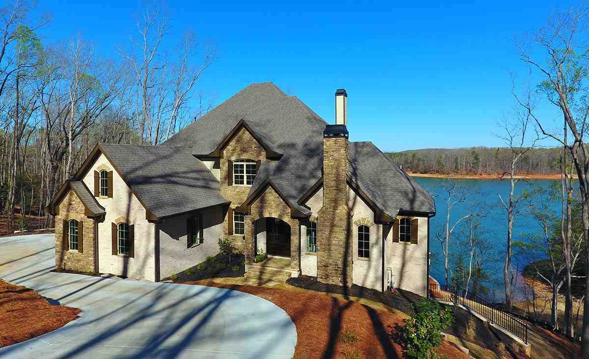 European House Plan 52023 with 4 Beds, 5 Baths, 3 Car Garage Picture 1
