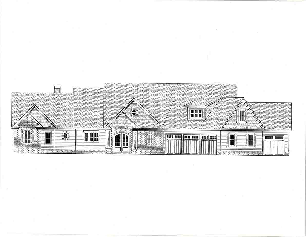 Craftsman, Farmhouse House Plan 52034 with 4 Beds, 4 Baths, 5 Car Garage Picture 1