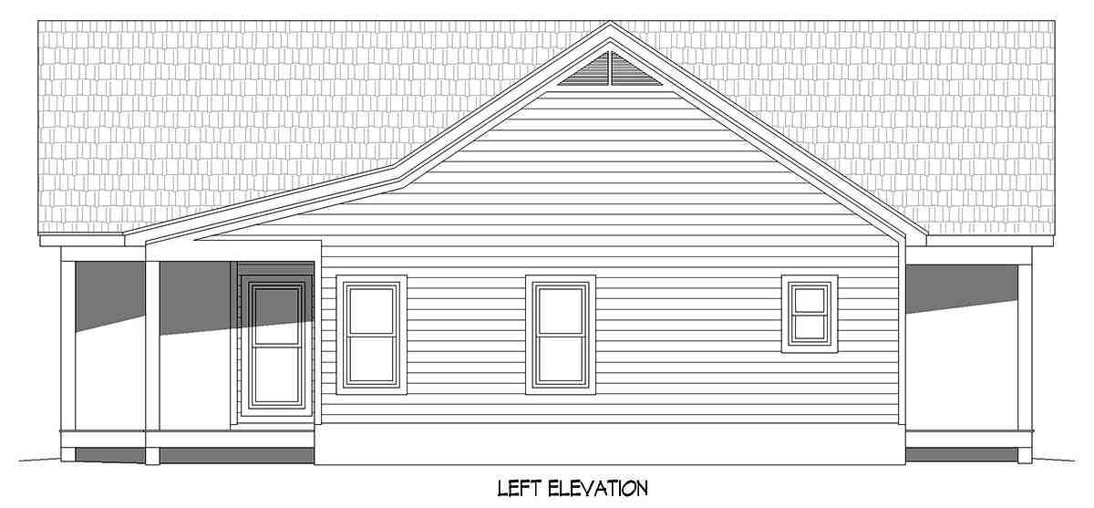 Country, Farmhouse, Traditional House Plan 52120 with 2 Beds, 2 Baths Picture 2