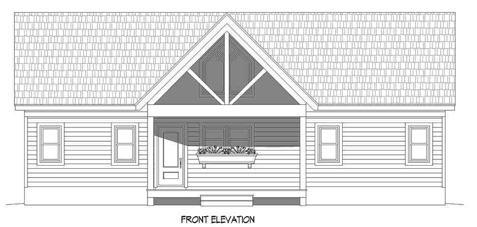 Country, Farmhouse, Traditional House Plan 52120 with 2 Beds, 2 Baths Picture 3