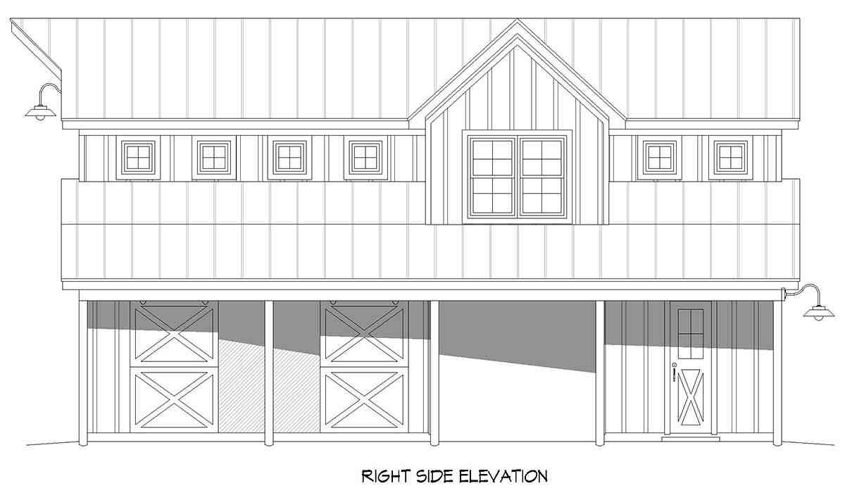 Country, Farmhouse, Ranch, Traditional 2 Car Garage Apartment Plan 52136 Picture 1