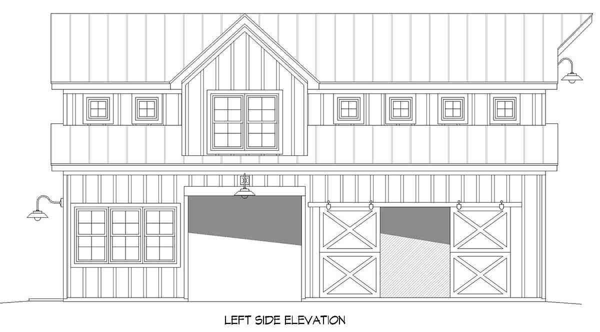 Country, Farmhouse, Ranch, Traditional 2 Car Garage Apartment Plan 52136 Picture 2