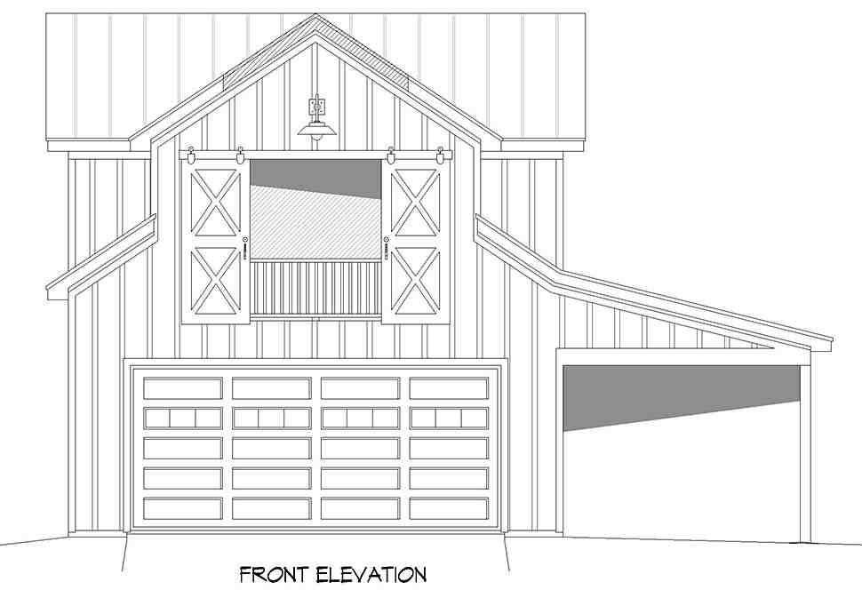 Country, Farmhouse, Ranch, Traditional 2 Car Garage Apartment Plan 52136 Picture 3