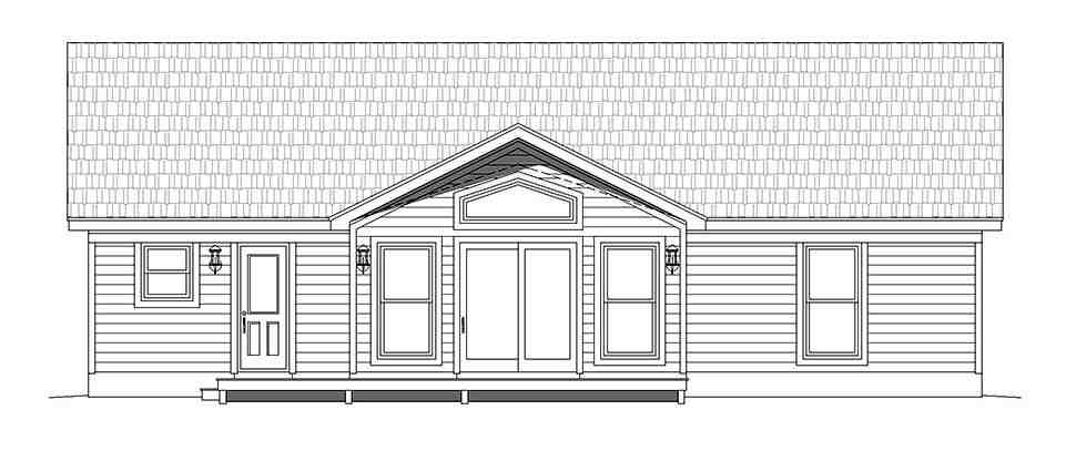 Traditional House Plan 52138 with 2 Beds, 2 Baths Picture 3