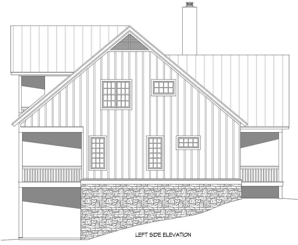 Bungalow, Country, Craftsman, Farmhouse House Plan 52140 with 3 Beds, 4 Baths, 2 Car Garage Picture 2