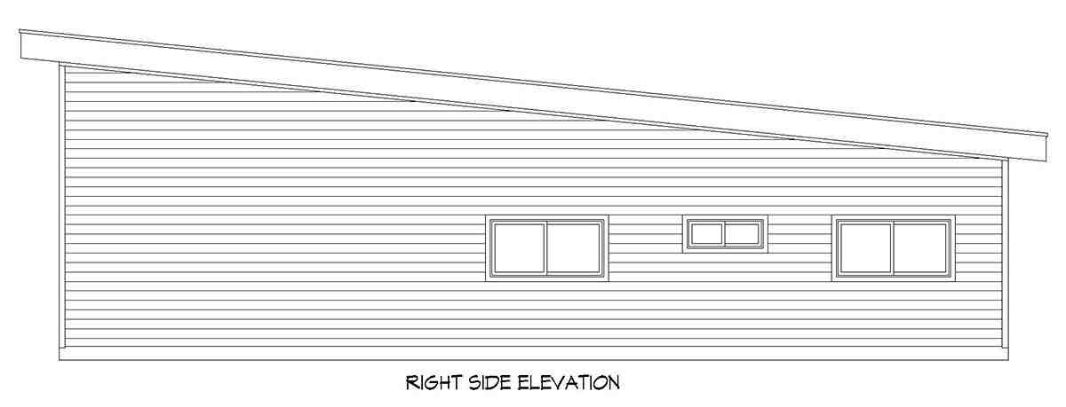 Bungalow, Contemporary, Craftsman Garage-Living Plan 52141 with 2 Beds, 1 Baths, 3 Car Garage Picture 1