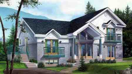 Multi-Family Plan 52433 with 4 Beds, 3 Baths Elevation