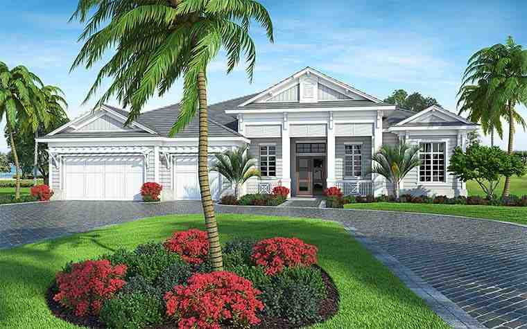 Coastal, Florida House Plan 52937 with 4 Beds, 6 Baths, 3 Car Garage Picture 1