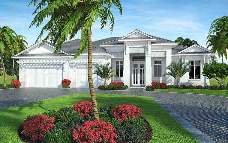 Coastal, Florida House Plan 52937 with 4 Beds, 6 Baths, 3 Car Garage Picture 2