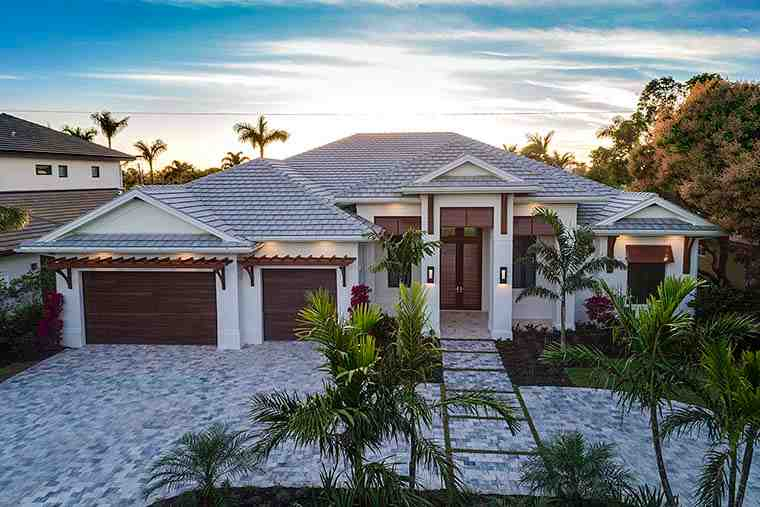 Coastal, Florida House Plan 52937 with 4 Beds, 6 Baths, 3 Car Garage Picture 3