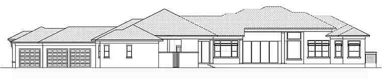 Coastal, Contemporary, Florida House Plan 52939 with 4 Beds, 6 Baths, 3 Car Garage Rear Elevation