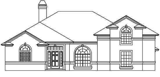 House Plan 53508 with 5 Beds, 4 Baths, 2 Car Garage Elevation