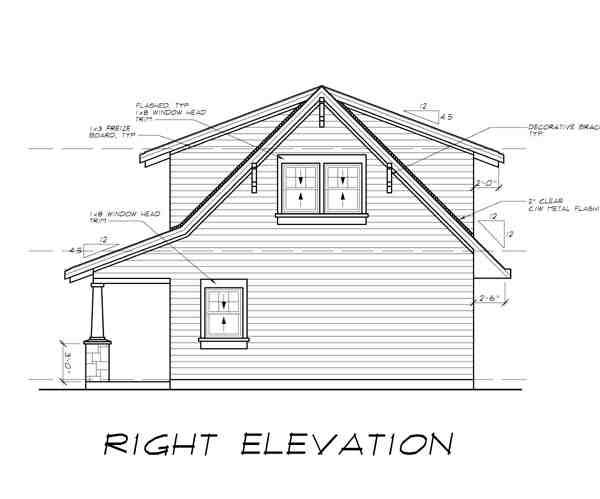 Craftsman 2 Car Garage Apartment Plan 55553 with 1 Beds, 1 Baths Picture 2