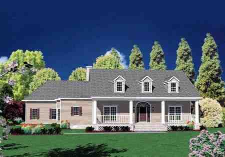 Traditional House Plan 56331 with 4 Beds, 5 Baths, 2 Car Garage Elevation