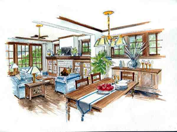 Country, Farmhouse, Traditional House Plan 56531 with 3 Beds, 3 Baths, 2 Car Garage Picture 3