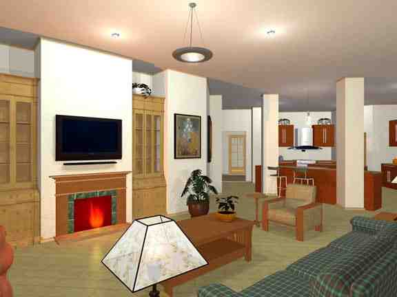 European, Ranch, Traditional House Plan 56565 with 3 Beds, 2 Baths, 2 Car Garage Picture 2