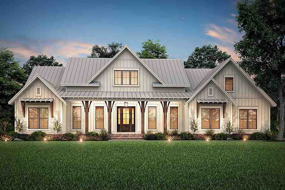 Country, Craftsman, Farmhouse House Plan 56700 with 3 Beds, 3 Baths, 2 Car Garage Picture 4