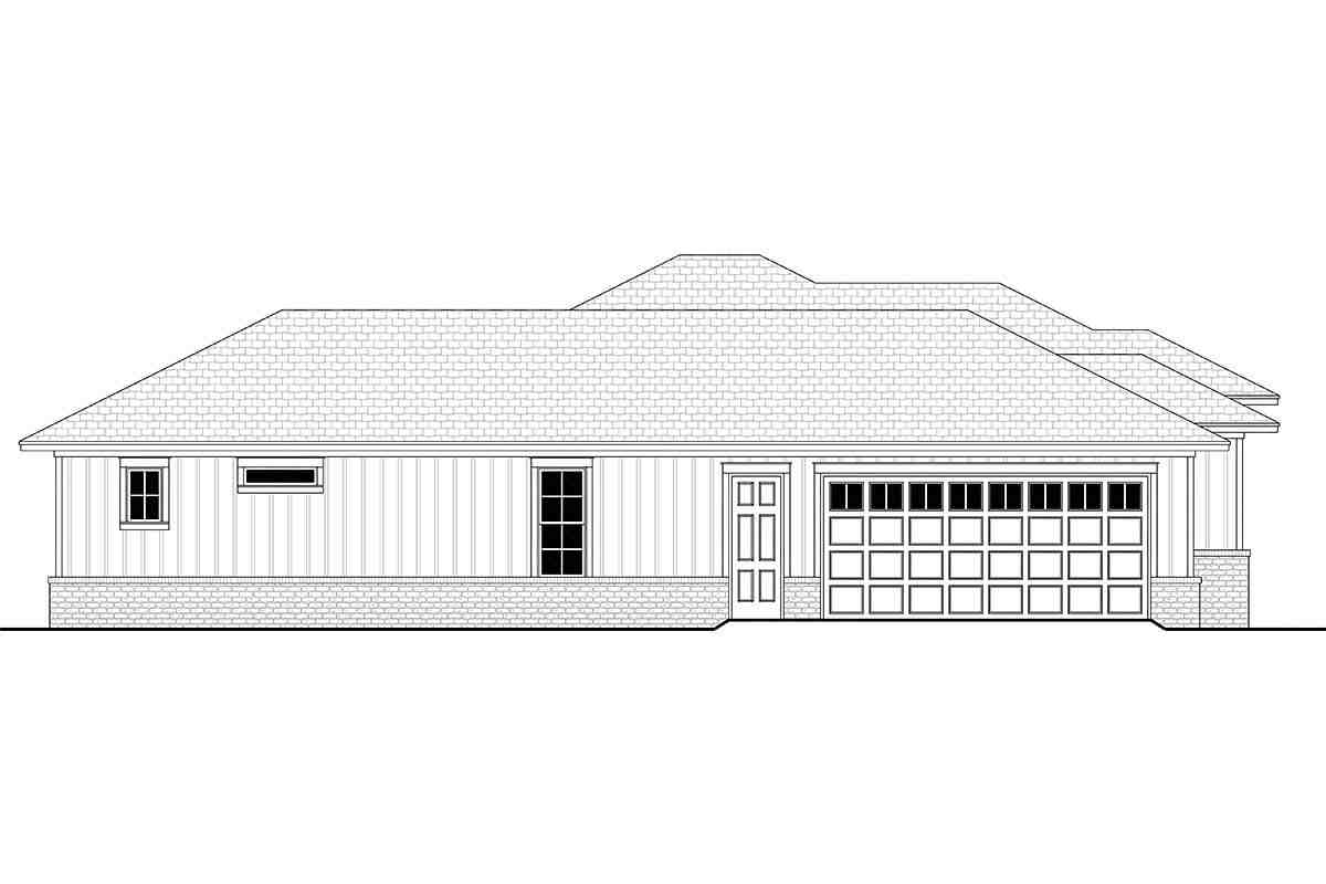 Country, Farmhouse, Ranch House Plan 56706 with 3 Beds, 3 Baths, 2 Car Garage Picture 2