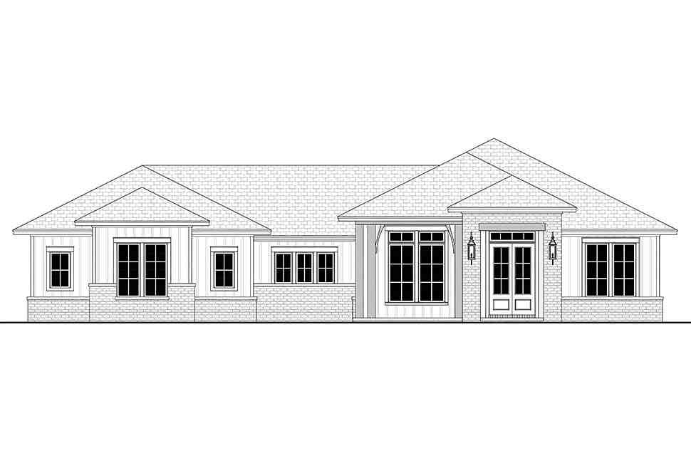 Country, Farmhouse, Ranch House Plan 56706 with 3 Beds, 3 Baths, 2 Car Garage Picture 3