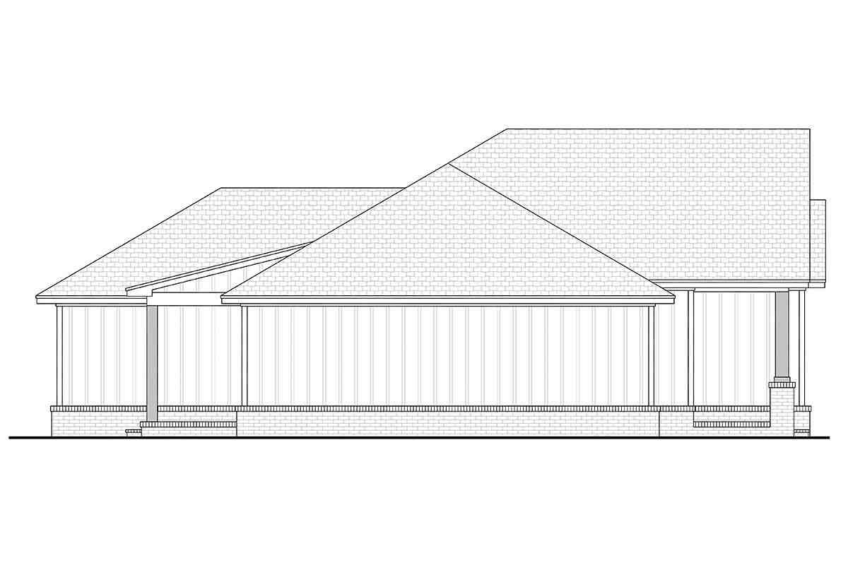 Country, Craftsman, Farmhouse, Traditional House Plan 56708 with 3 Beds, 2 Baths, 2 Car Garage Picture 2