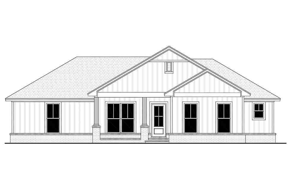 Country, Craftsman, Farmhouse, Traditional House Plan 56708 with 3 Beds, 2 Baths, 2 Car Garage Picture 3