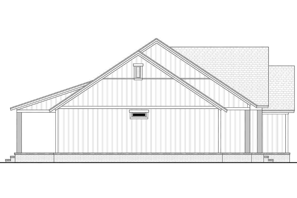 Country, Farmhouse, Southern, Traditional House Plan 56712 with 3 Beds, 2 Baths, 2 Car Garage Picture 2