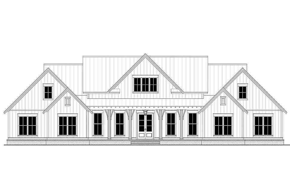 Country, Farmhouse, One-Story, Traditional House Plan 56716 with 4 Beds, 4 Baths, 3 Car Garage Picture 3