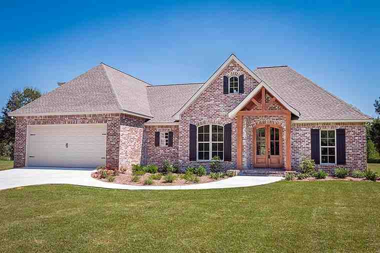 French Country, Traditional House Plan 56906 with 3 Beds, 2 Baths, 2 Car Garage Elevation