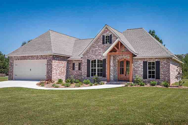 French Country, Traditional House Plan 56906 with 3 Beds, 2 Baths, 2 Car Garage Picture 1
