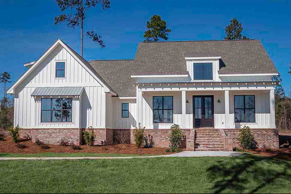Country, Craftsman, Farmhouse House Plan 56912 with 3 Beds, 2 Baths, 2 Car Garage Picture 3