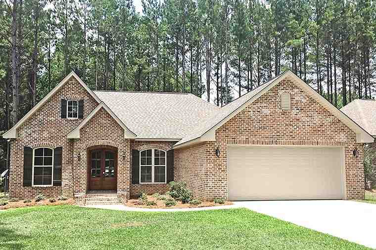 Country, French Country, Traditional House Plan 56998 with 3 Beds, 2 Baths, 2 Car Garage Elevation