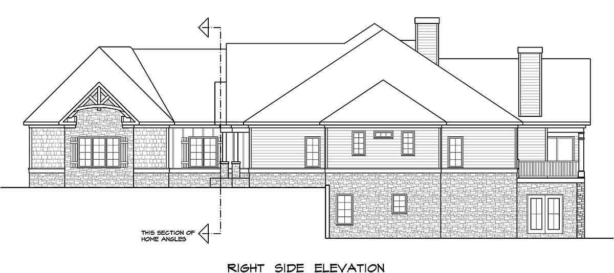 Craftsman House Plan 58253 with 4 Beds, 4 Baths, 2 Car Garage Picture 1