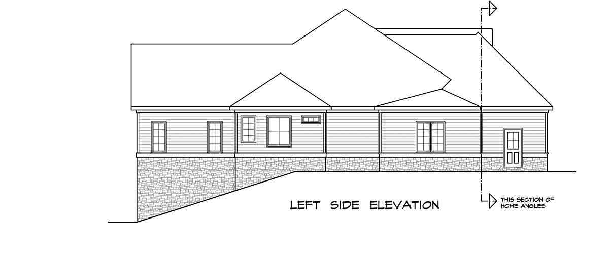 Craftsman House Plan 58253 with 4 Beds, 4 Baths, 2 Car Garage Picture 2
