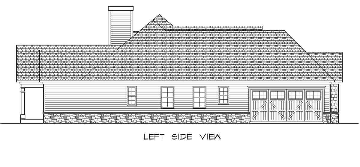 Craftsman House Plan 58257 with 3 Beds, 4 Baths, 2 Car Garage Picture 2