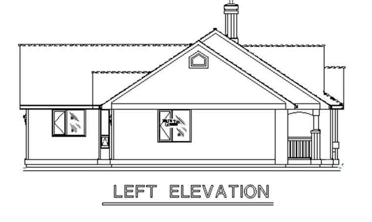 Country House Plan 58558 with 3 Beds, 3 Baths, 2 Car Garage Picture 1