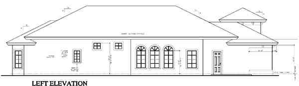 Florida, One-Story House Plan 58919 with 4 Beds, 4 Baths, 2 Car Garage Picture 1