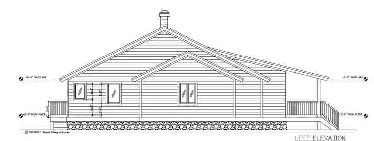 One-Story, Ranch House Plan 58987 with 3 Beds, 4 Baths, 2 Car Garage Picture 1