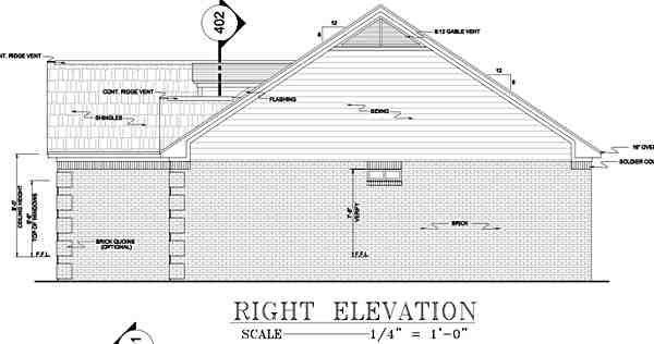 European, Ranch, Traditional House Plan 59011 with 3 Beds, 2 Baths, 2 Car Garage Picture 7
