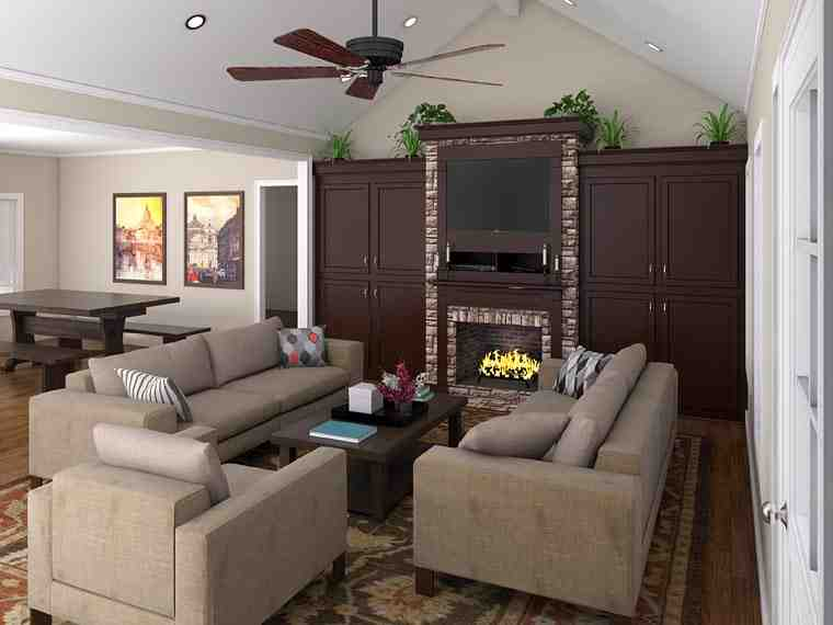 Country, Ranch, Southern, Traditional House Plan 59068 with 3 Beds, 3 Baths, 2 Car Garage Picture 2