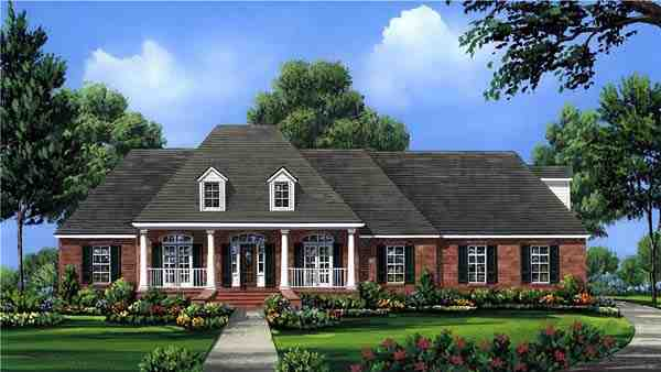 Colonial, Country, European, Southern House Plan 59075 with 4 Beds, 3 Baths, 2 Car Garage Picture 6