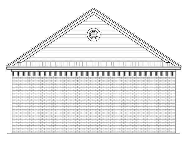 Country, Traditional 2 Car Garage Plan 59119 Rear Elevation
