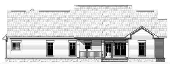 Bungalow, Craftsman, Traditional House Plan 59212 with 4 Beds, 3 Baths, 2 Car Garage Rear Elevation